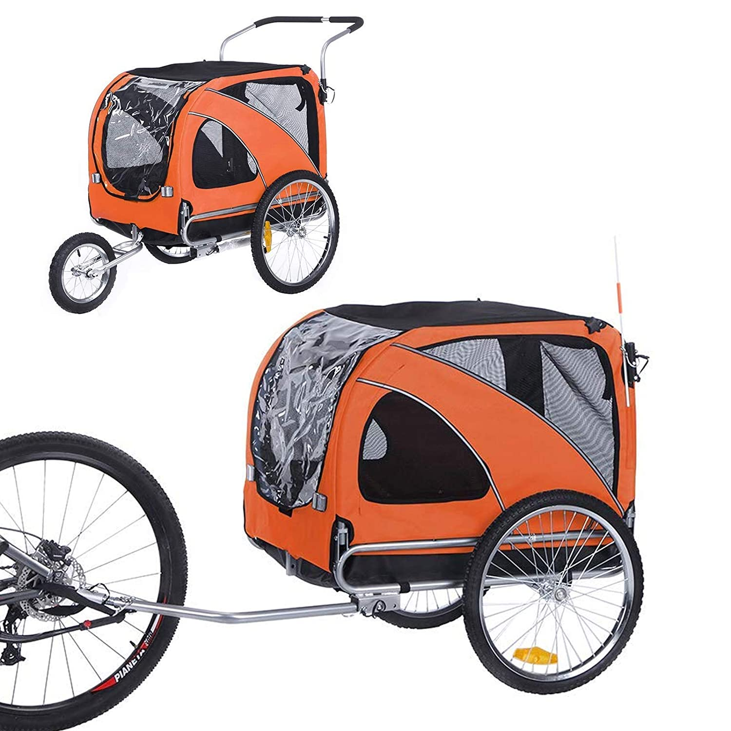 Best Dog Bicycle Trailers - Sepnine and Leonpets Large Bicycle Pet Trailer
